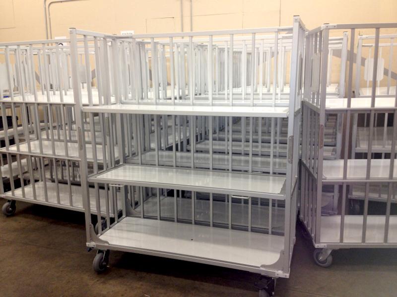 Custom Fabrication Linen Cart Solution